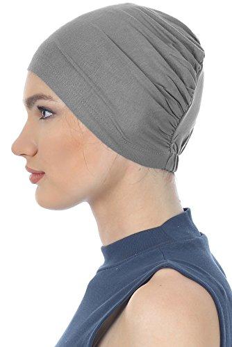 Coton Bonnet Essentielle Pour Perte De Cheveux, Cancer, Chimio Gris Foncé