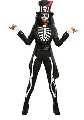 Plus Größe Frauen Voodoo Skeleton Kostüm - 3X