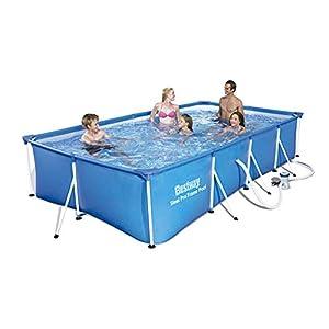 Bestway 56424 – Piscina Desmontable Tubular Infantil Family Splash Frame Pool 400x211x81 cm Depuradora de cartucho de 1…