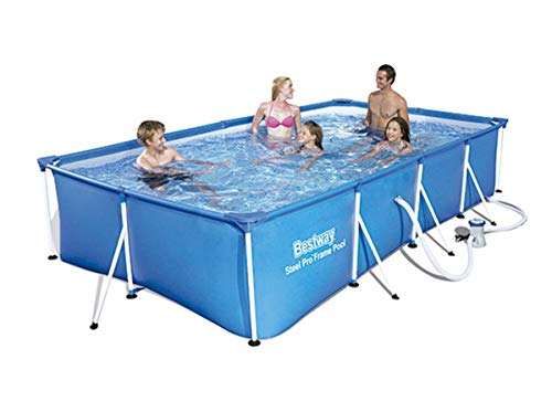 Bestway 56424 - Piscina Desmontable Tubular Infantil Bestway Family Splash Frame Pool 400 x 211 x 81...