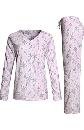 sofiepj-womens-warm-plush-fleece-pink-grey-snowflake-pajama-gift-set-white-pink-m-553532-d656-pink-g