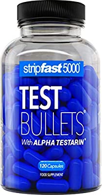Testosterone Boosters For Men Test Bullets with Alpha Testarin Complex Ultra Strong 30 Day Supply by stripfast5000