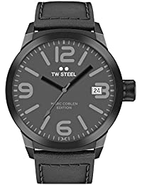 TW Steel Marc Coblen Edition mit Lederband 50 MM Grey/Black TWMC52