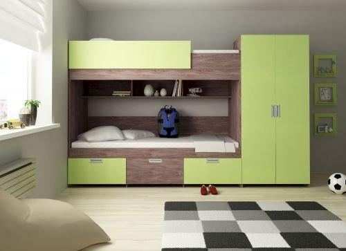Etagenbett Heidelberg Farbe Lime - Kinder-möbel-etagenbetten