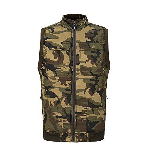 Dasongff Herren Westen Ärmellos Daunen Warm Herren Mode Weste Outwear Stepp Zipper Jacken Winter Herbst Outdoor Sport Schlank Einfach Lässig Groß Größe Bodywarmer Mantel