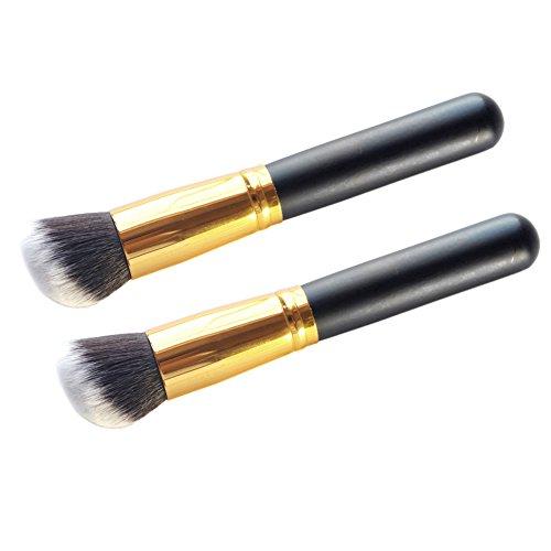 LianLe®2PCS maquillage pinceaux brosse plate Contour outils de réparation brosses Nouvelle Mode femmes