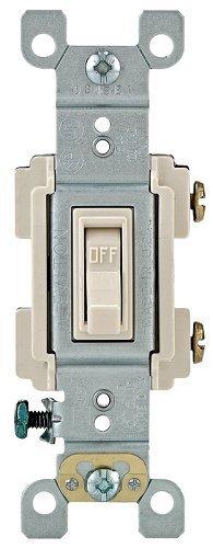 15 Amp Single Pole (Leviton 204-Rs115-Tcp 15 Amp Light Almond Single Pole Toggle Switch by Leviton)