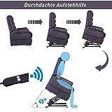 HOMCOM Elektrischer Fernsehsessel Aufstehsessel Relaxsessel Sessel mit Motor und Aufstehlhilfe Braun - 4