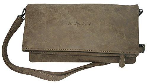 ca8a9afa39ff10 Jennifer Jones Taschen Damen Damentasche Handtasche Umhängetasche  Schultertasche Clutch Tasche groß - 2 Tragevarianten Crossbody Bag