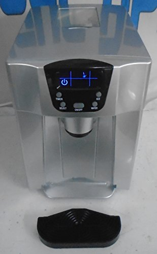 Portable ice maker with water hookup