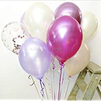 Beautiful Balloons 30 Afternoon Tea Shades - Includes Rose Gold Confetti and Chrome