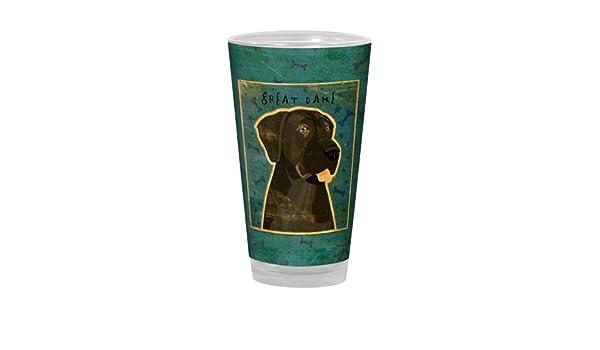 Black Great Dane Golden Artful Alehouse Pint Glass Tree-Free Greetings PG03069 John W 16-Ounce