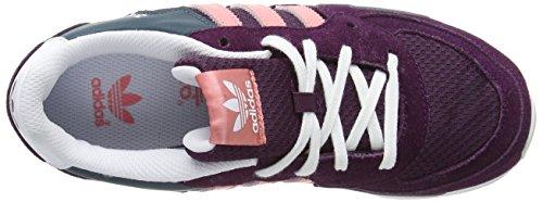 Adidas Zx 850 K Scarpe per bambini, Ragazza Merlot F15-St /Peach Pink F15-St/Ftwr White