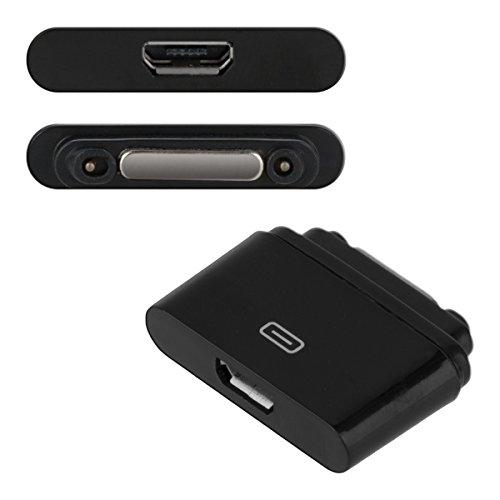 kwmobile Adaptateur USB 2.0 avec Port magnétique pour Sony Xperia Tablet Z2 /Xperia Z1 /Z1 Compact /Z2/Z3 en Noir