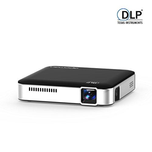 APEMAN Beamer mini projector DLP Pico Projektor WVGA, 1000:1 Kontrast, 854x 480 Pixel, mit USB, HDMI, MHL, 25000 Stunden LED Lebensdauer