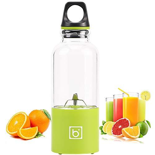 ZUHN 500 ml tragbare Entsafter Tasse USB wiederaufladbare elektrische automatische Bingo Gemüse Fruchtsaft Tools Maker Cup Blender,Green (Einer Schönheit Blender)