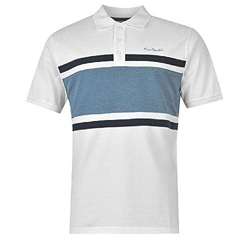 Pierre Cardin Herren Poloshirt Gr. M, Weiß - weiß