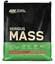Optimum Nutrition Serious Mass, Strawberry 12 Lbs