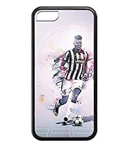 Artistical Coque Cover Iphone 5c Coque Paul Pogba Famous Football Player-Anti-Slip Coque Shell For Iphone 5c, For Boys