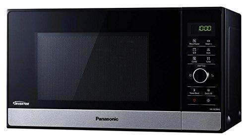 Panasonic NN-GD38HSGTG Kombi-Mikrowelle mit Grill und Dampfgarer/Steamer / 1.000 W/Pizzapfanne / 23 L/Edelstahl-Schwarz