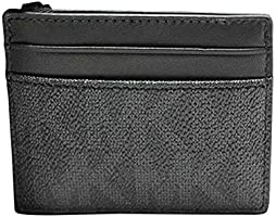 Michael Kors Men's Money Clip Card Wallet Leather -Black