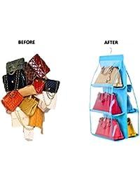 Ducomi® Poppins - Organizador para bolsos con práctico gancho para colgar en el interior del armario azul Azul claro