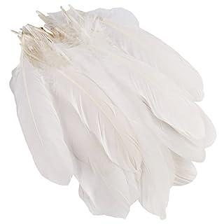 AUAUDATE 50er Pack Natur Gans Federn Party Craft DIY Dekoration 15-20cm Weiß