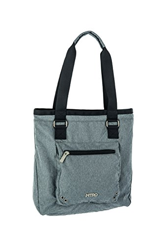 Nitro Damen Handtasche Tote Bag, Faded Black, 36 x 37 x 11 cm, 1131878005 (Black Fashion Bag Tote)