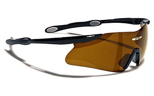Occhiali da Sole X-Loop - Protezione - Ciclismo - Sci - Tennis - Moto - Corsa a Piedi / Mod. 055P Nero