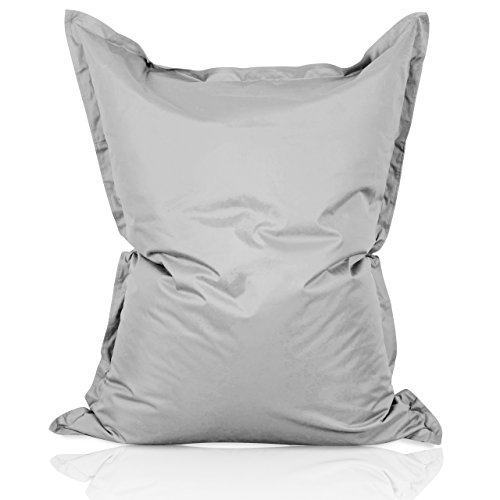 Lumaland Luxury Riesensitzsack XXL Sitzsack 380l Füllung 140 x 180 cm Indoor Outdoor Grau