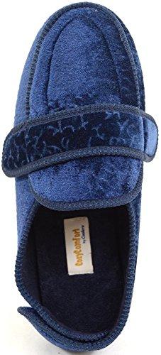 Snugrugs, pantofole ortopediche da donna, pantofole ampie fino alla caviglia Blu (Blu)