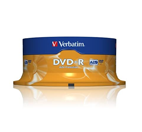 Verbatim DVD-R, General, 16X, 4.7GB 25 Pack, 43522 (25 Pack)