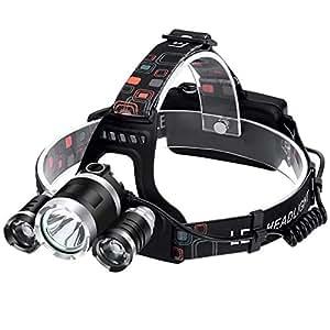 QSBY Outdoor-Sportnacht Head Fackel Leben wasserdicht kann die Scheinwerfer LED super hellklare Scheinwerfer Ultra Lange Ausdauer wiederaufladbare Scheinwerfer fest