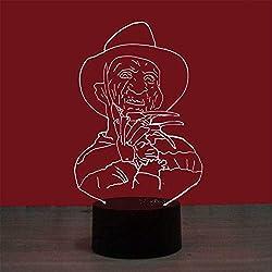 Lámpara 3D Geek de pensamiento, USB/AA con pilas Luz de noche Dormitorio Lámpara decorativa Lámpara de noche Lámpara de dormir Regalo para niños