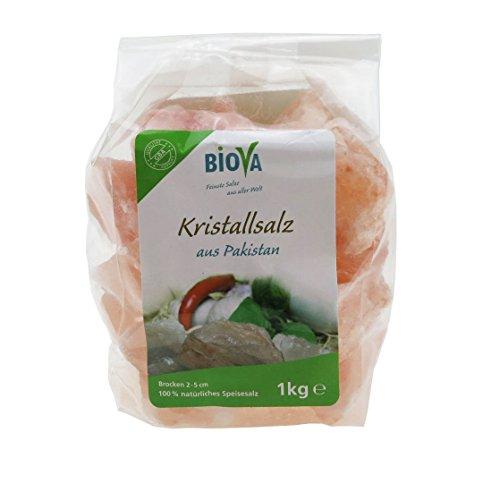 Preisvergleich Produktbild BIOVA Kristall Salz aus Pakistan Brocken 2 x1kg SALZ Brocken