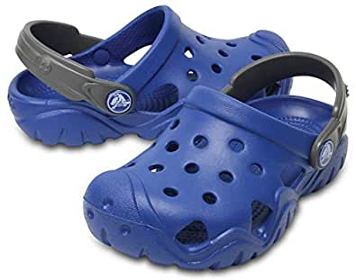 crocs Unisex's Swiftwater Clog K Blue 8 Kids UK (C8) (202607-4HC)