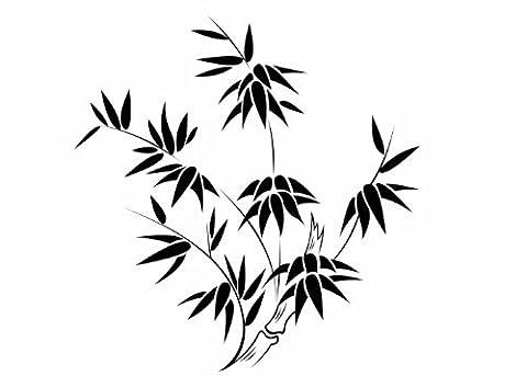 Wandtattooladen Wandtattoo - Bambus-Strauch Größe:58x60cm Farbe: Schablone