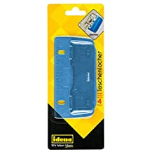 Idena 22100 Pocket Punch, Punched up to 4 Sheets, Transparent Blue, 1 Piece.