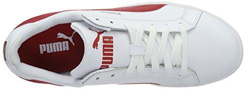 Puma Smash L, Sneaker Unisex – Adulto Bianco (Puma White-Barbados Cherry 18)