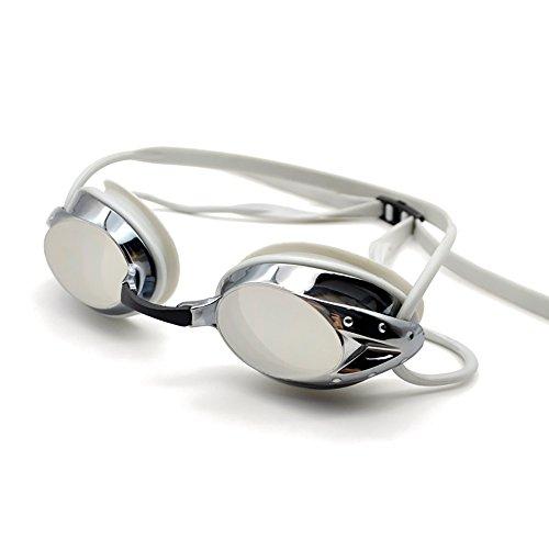 Romote Schwimmbrille, Spiegel-Trainingsbrille, Anti-Fog-UV-Schutz kein Leck mit Schutzhülle für Männer und Frauen und Jugendliche
