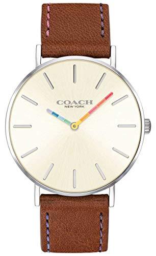 Coach | Damen-Armbanduhr | braunes Lederband weißes Zifferblatt | 14503032 (Damen-uhr Coach Lederband)