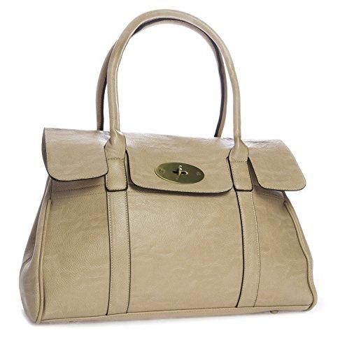 Big Handbag Shop - Borsa a tracolla donna Beige (beige)