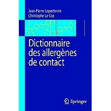 Dictionnaire des allergènes de contact