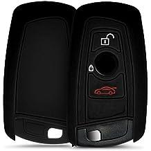 Móvil para 3teclas inalámbrico llave de coche (solo Keyless Go)–kwmobile Carcasa Llave silicona en negro–Llave funda Cover Auto Llave de encendido