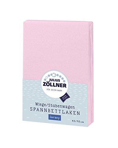 Preisvergleich Produktbild Julius Zöllner 8330047760 Jersey Spannbetttuch für Wiegen 90x40 und Stubenwagen,  Farbe: rosa