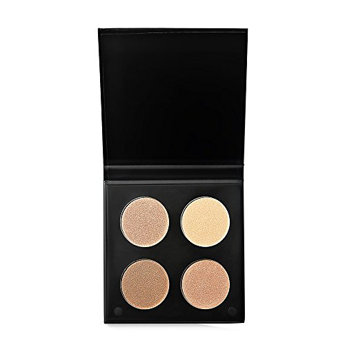 MagiDeal Women Pro Face Makeup Compact Size 4 Assorted Colors Makeup Face Powder Highlight Concealer Contouring Bronzer #1
