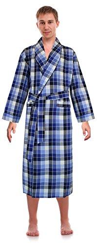 Robes King Klassische Nachtwäsche für Herren, gewebter Schalkragen - Blau - Small/Medium - Baumwolle Gewebte Pyjama-set