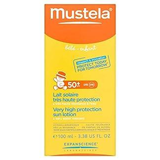 Mustela 3504105024390 locion de protección solar Cuerpo 100 ml – Lociones de protección solar (Cuerpo, 100 ml, Piel sensible, Protección, Tubo, 1 pieza(s))