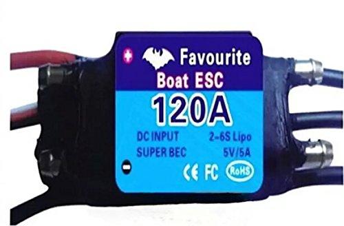 Goliton® 120A Brushless ESC FVT Shark Series for RC Boat Test