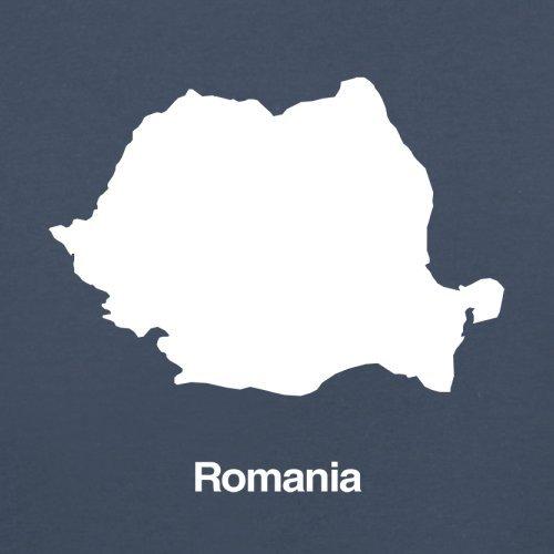 Romania / Rumänien Silhouette - Herren T-Shirt - 13 Farben Navy